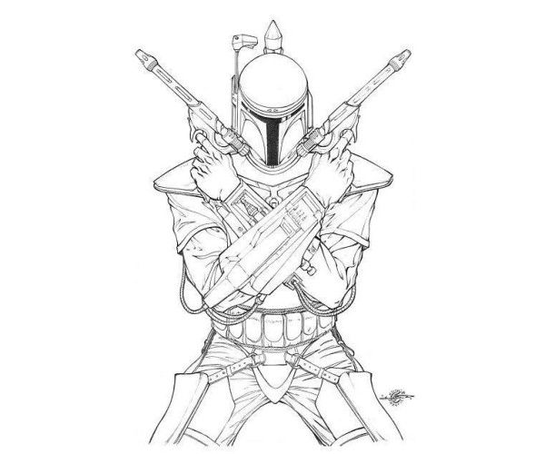 Star Wars Coloring Pages Boba Fett Star Wars Drawings Star Wars