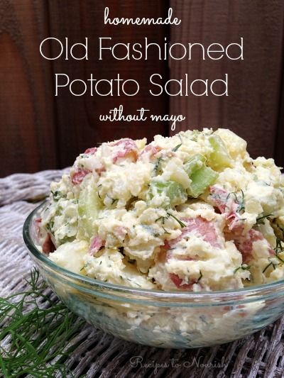 Homemade Potato Salad Recipes To Nourish Homemade Potato Salads Real Food Recipes Potatoe Salad Recipe