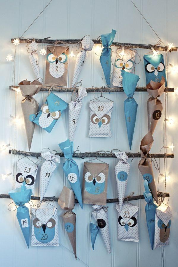 Entzuckend Adventskalender Selbst Gestalten   Einfache Bastelideen Für Weihnachten