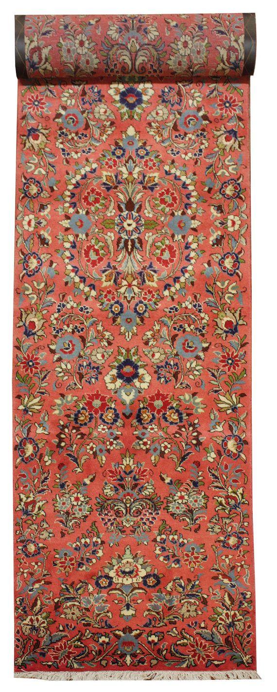 Colore cm 290 x 80 antico persiano Tappeto Sarouk di