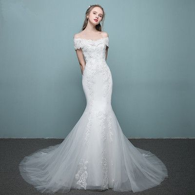 Lace Bridal Dresses with Off the Shoulder,Mermaid Bridal Dress ...