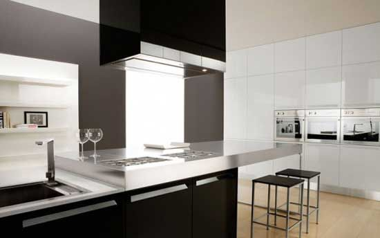 Awesome Glossy Black And White Kitchen U2013 Diana By Futura Cucine Design Inspirations
