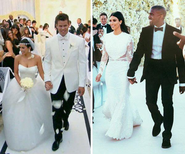 Kim Kardashian S Wedding Dresses Which One Do You Like Better Kim Kardashian Wedding Kim Kardashian Wedding Dress Wedding Dresses