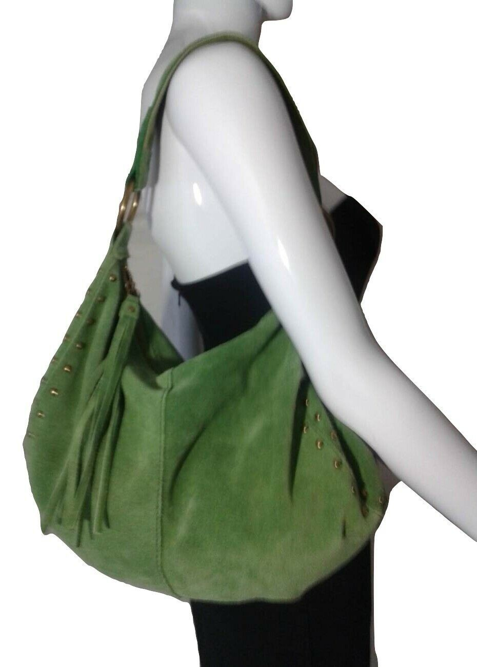 Details about LUCKY BRAND Purse Green Suede