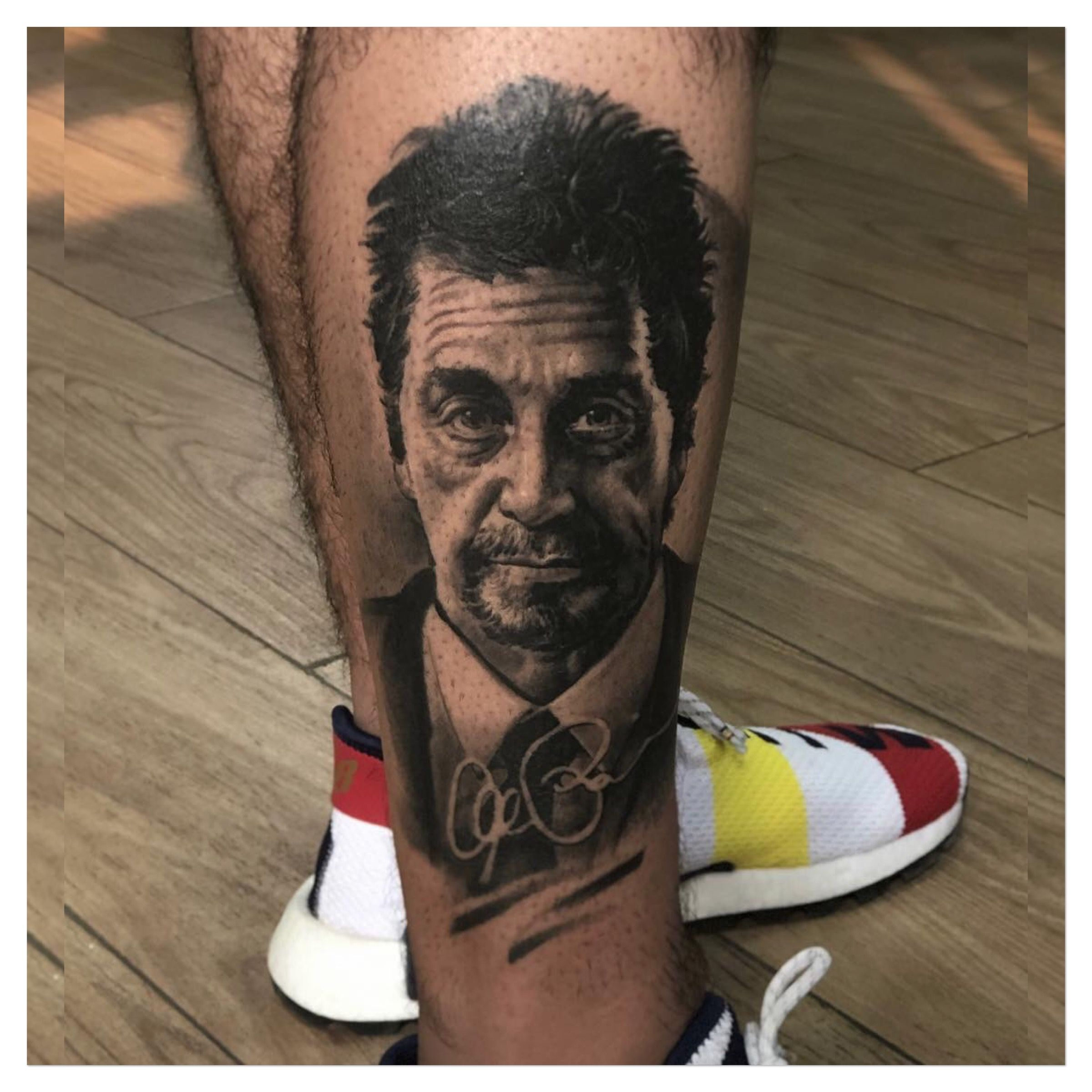 Al Pachino Tattoo Leg tattoos, Celebrity tattoos, Tattoos