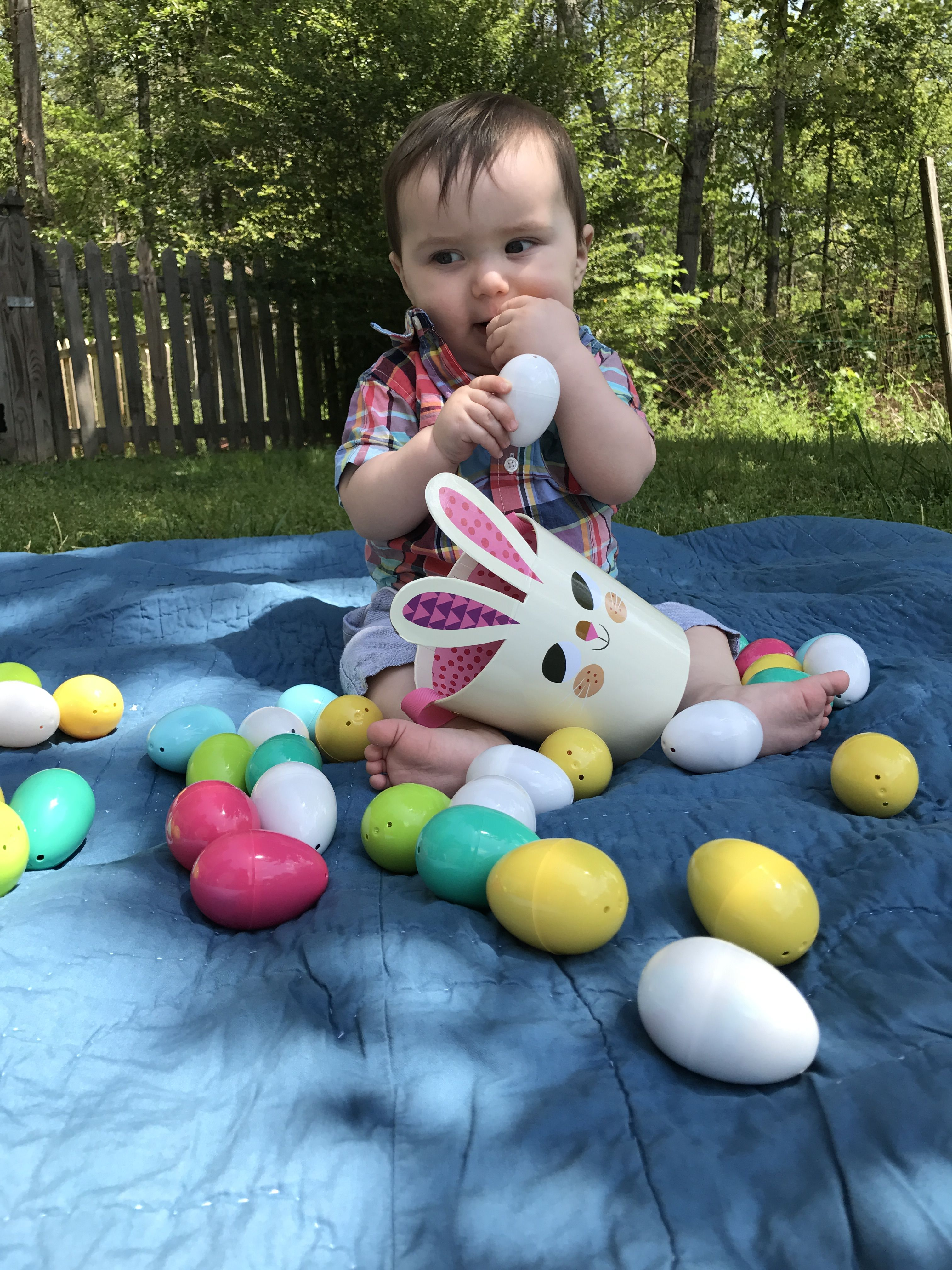 Easter eggs easter basket easter picture baby boy first easter easter eggs easter basket easter picture baby boy first easter negle Images