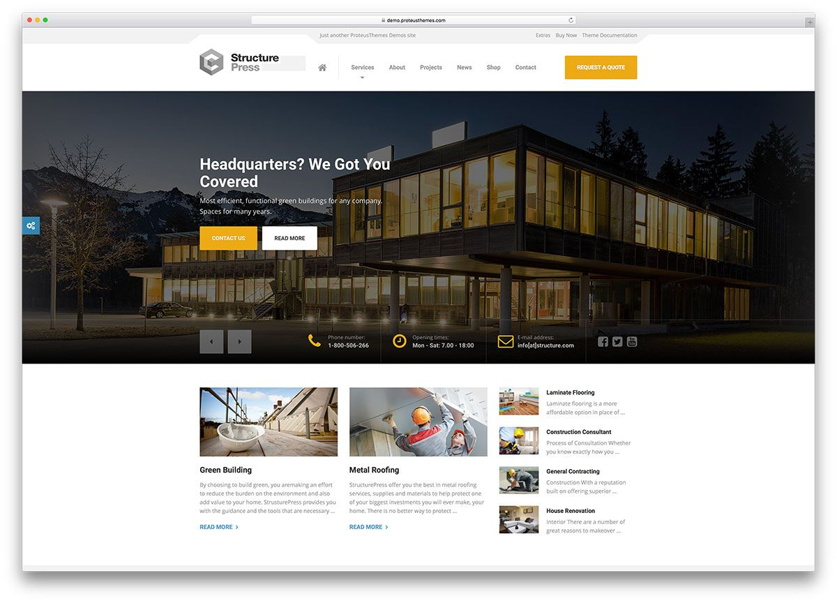 49 Best Construction Company WordPress Themes 2019