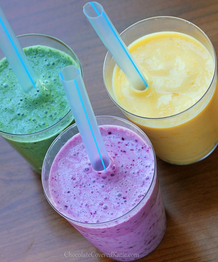 Simple Fruit Smoothie Recipe, With Many Different Flavors