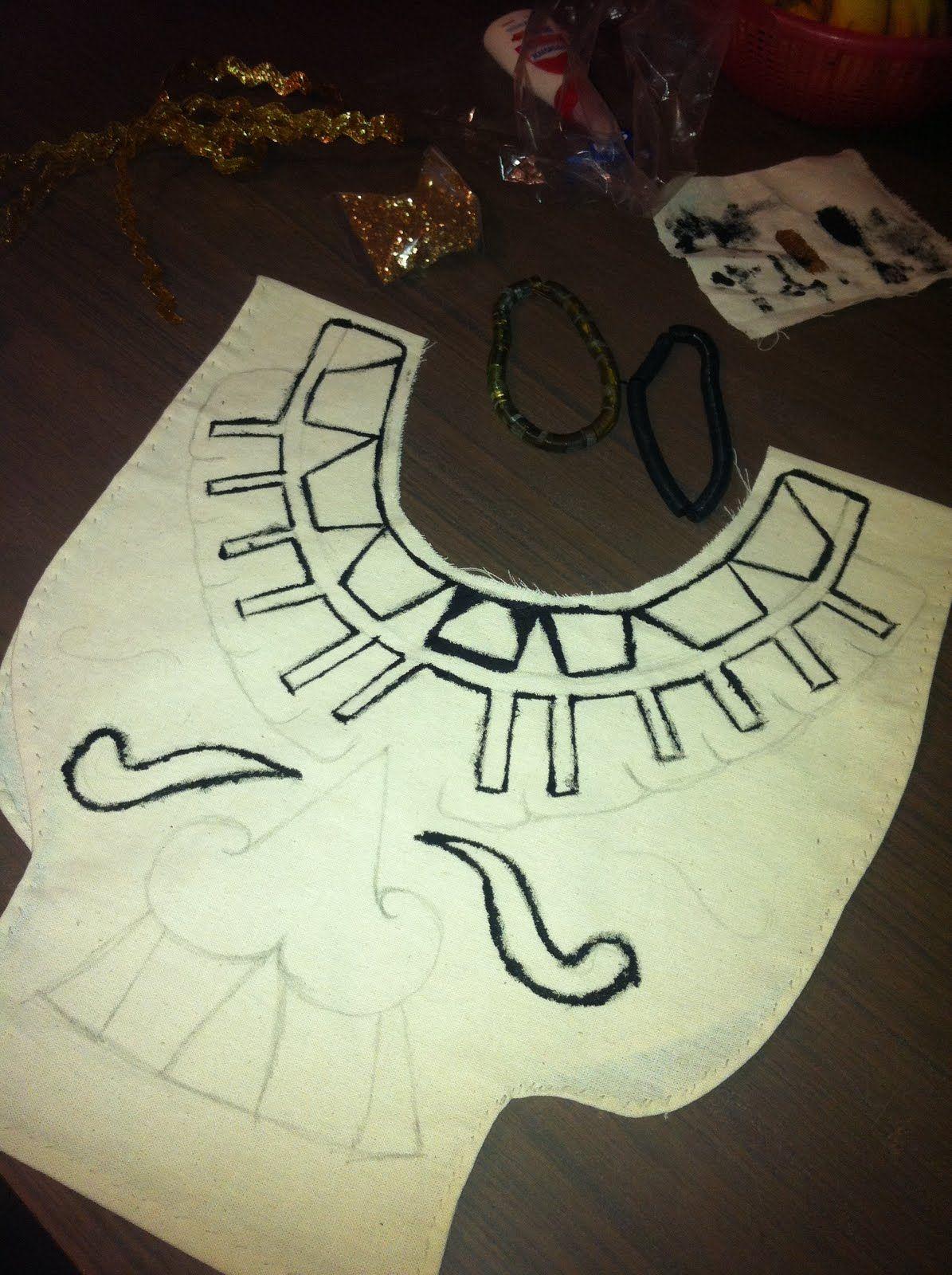 Aztecas, hice una parte de su vestuario..Y te la Muestro   Fasching
