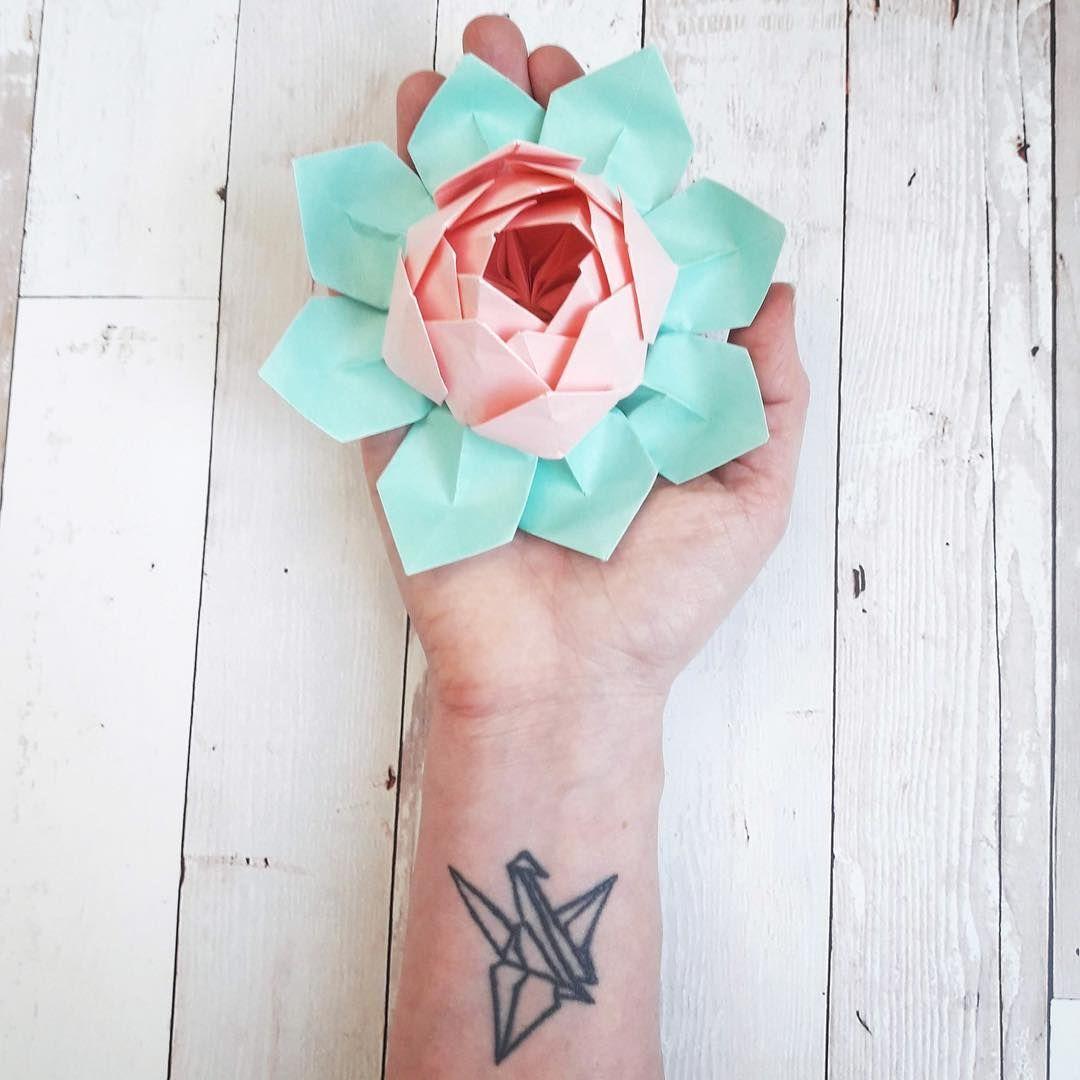Flor De Loto Origami Flor De Loto Origami Origami Paso A Paso Loto De Papel