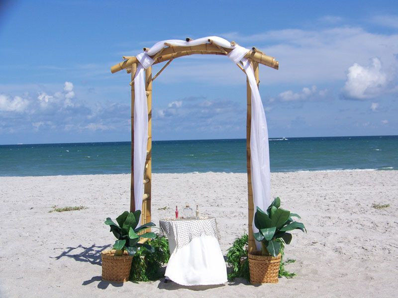 Styling Tips For Embracing A Beach Wedding Theme: Arch_bamboo_11