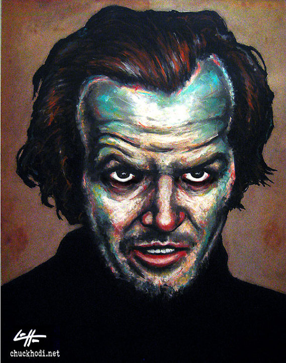 Print 8x10  The Long Stare  The Shining Jack Torrance by chuckhodi, $10.00