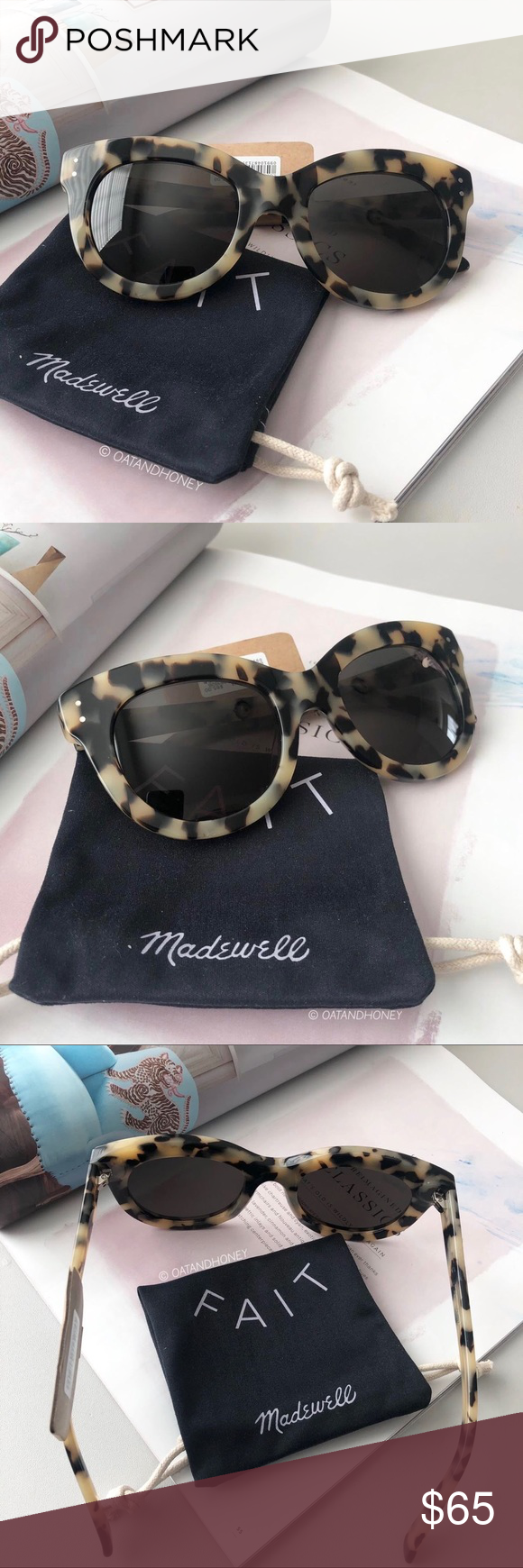 c3f7a28141 Madewell Pacific Cat-Eye Sunglasses New with tag. Made from hand cut  acetate. Acetate frame. UV protection. Includes the Madewell pouc…