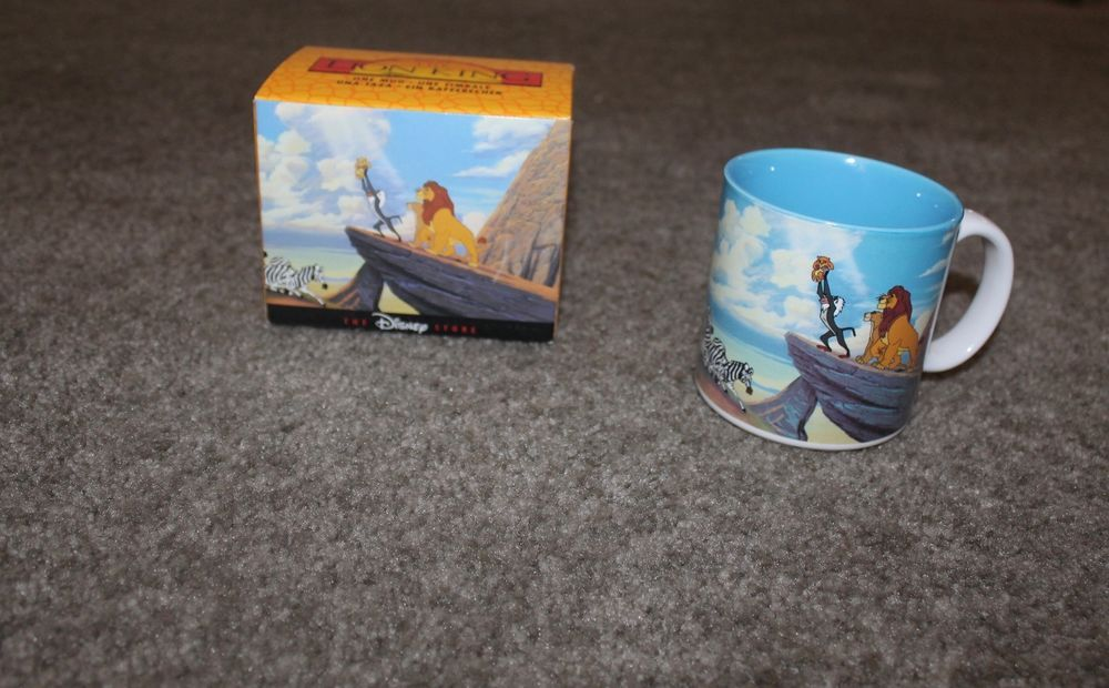 The Lion King Coffee Mug Classic Collector Mug Made in Japan In Original Box