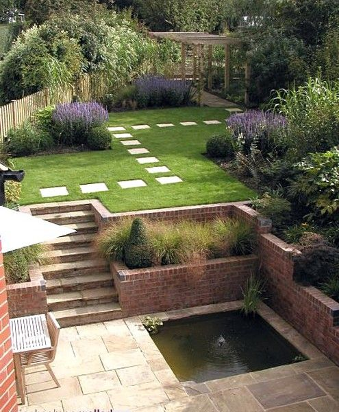 Attractive Garden Design For Sloped Garden Ideas   Outdoors Home Ideas