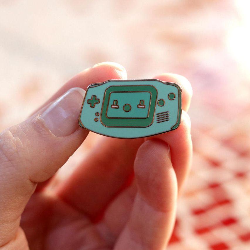 Kawaii Nintendo System Pins made by Laura Hammonds -