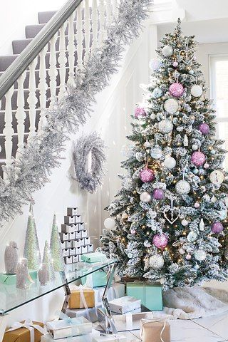 Ideas For Christmas Colours Pink And Silver Christmas Decor For