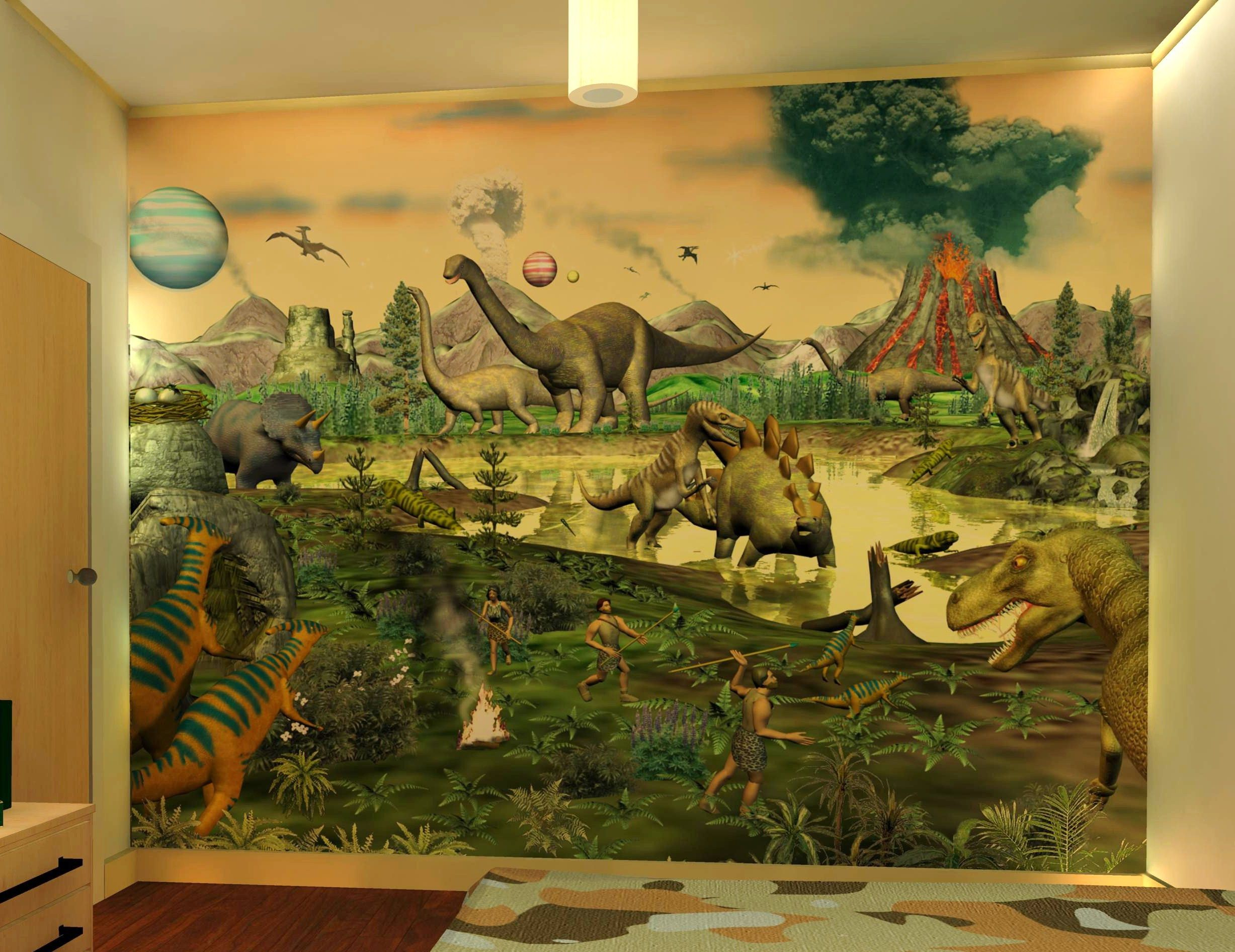 wall sticker mural Dinosaur Planets Toddler Room Pinterest