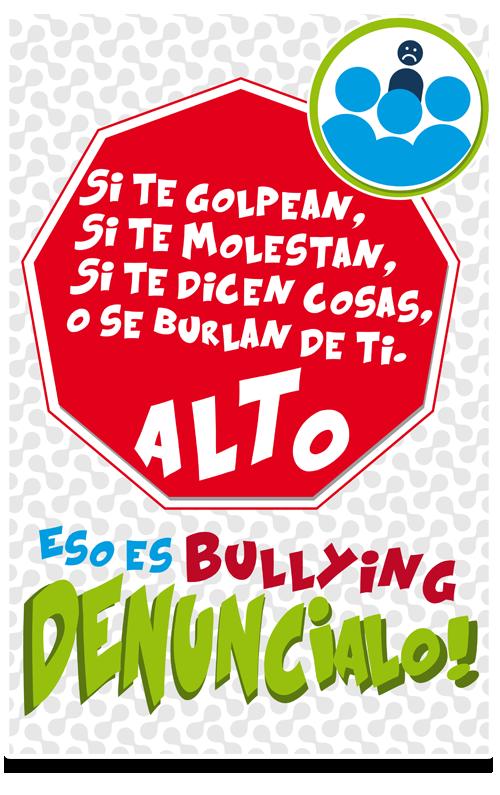 Cartel De Concienciación Contra El Bullying Mostrando Algunos De