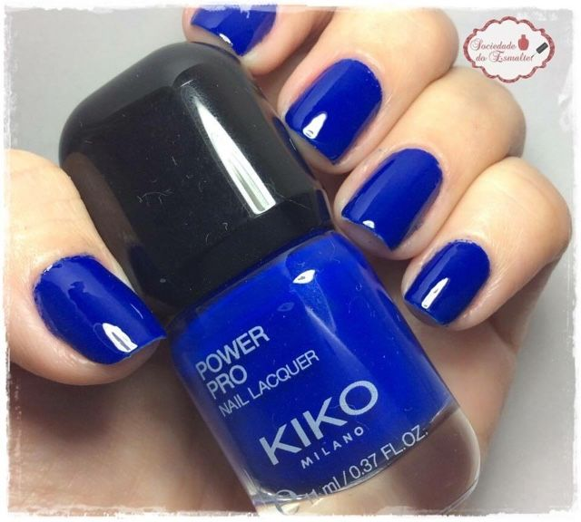 "Kiko Power Pro Nail Polish In 39 ""Cobalt Blue""."
