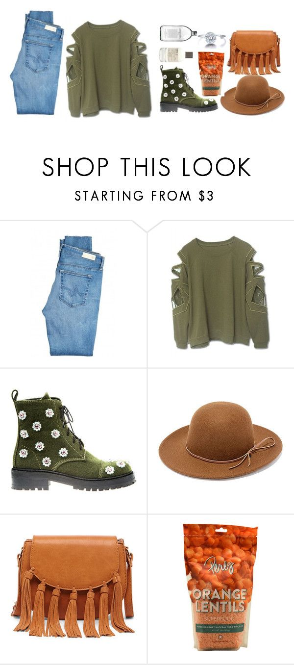 """""""Untitled #58"""" by my-black-wings ❤ liked on Polyvore featuring AG Adriano Goldschmied, Anouki, RHYTHM, Sole Society and Le Labo"""
