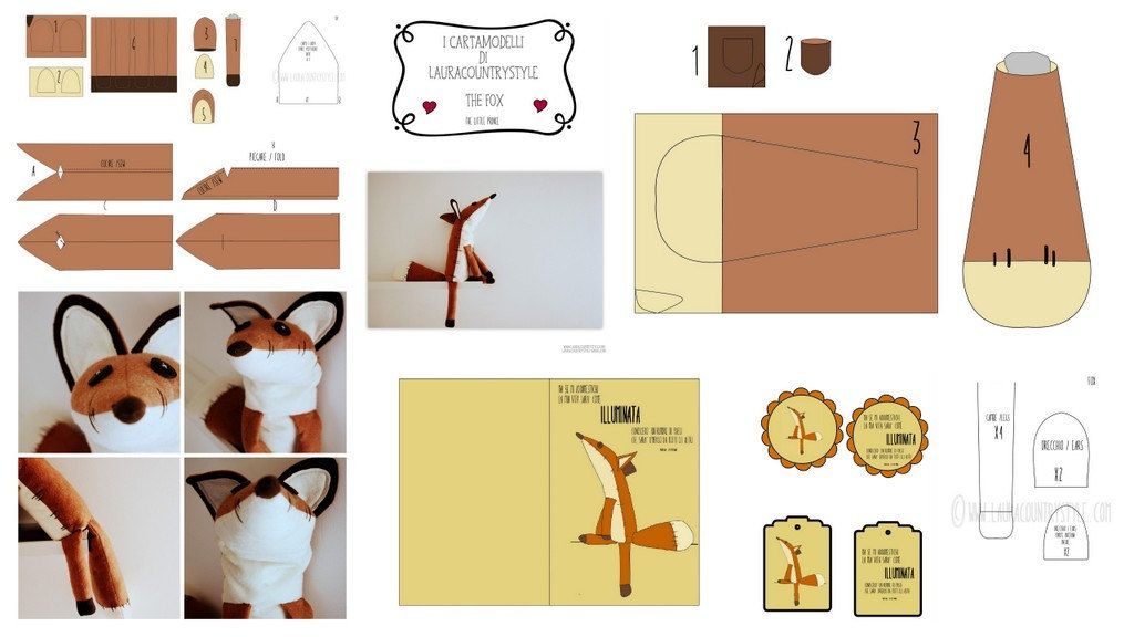 Pdf sewing pattern Fox Stuffed Animal Le por lauracountrystyle ...