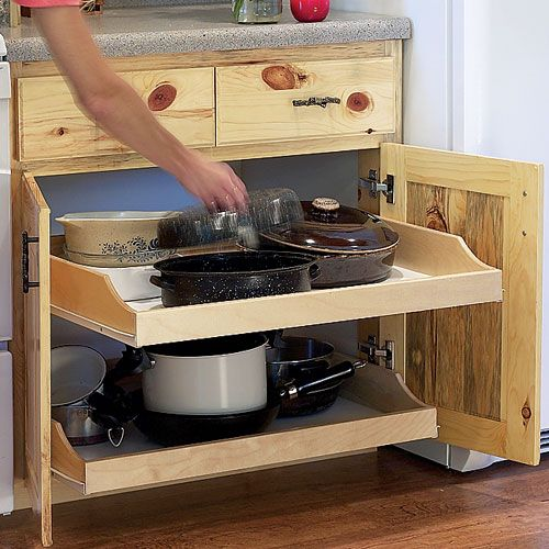 Kitchen Renovation Online Tool: Birch Pullout Shelf Kits For Kitchen Or Bath
