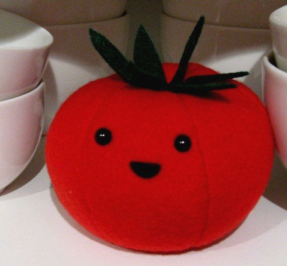 Tomato Fake Food Plush Vegetable Cute Polar Fleece By