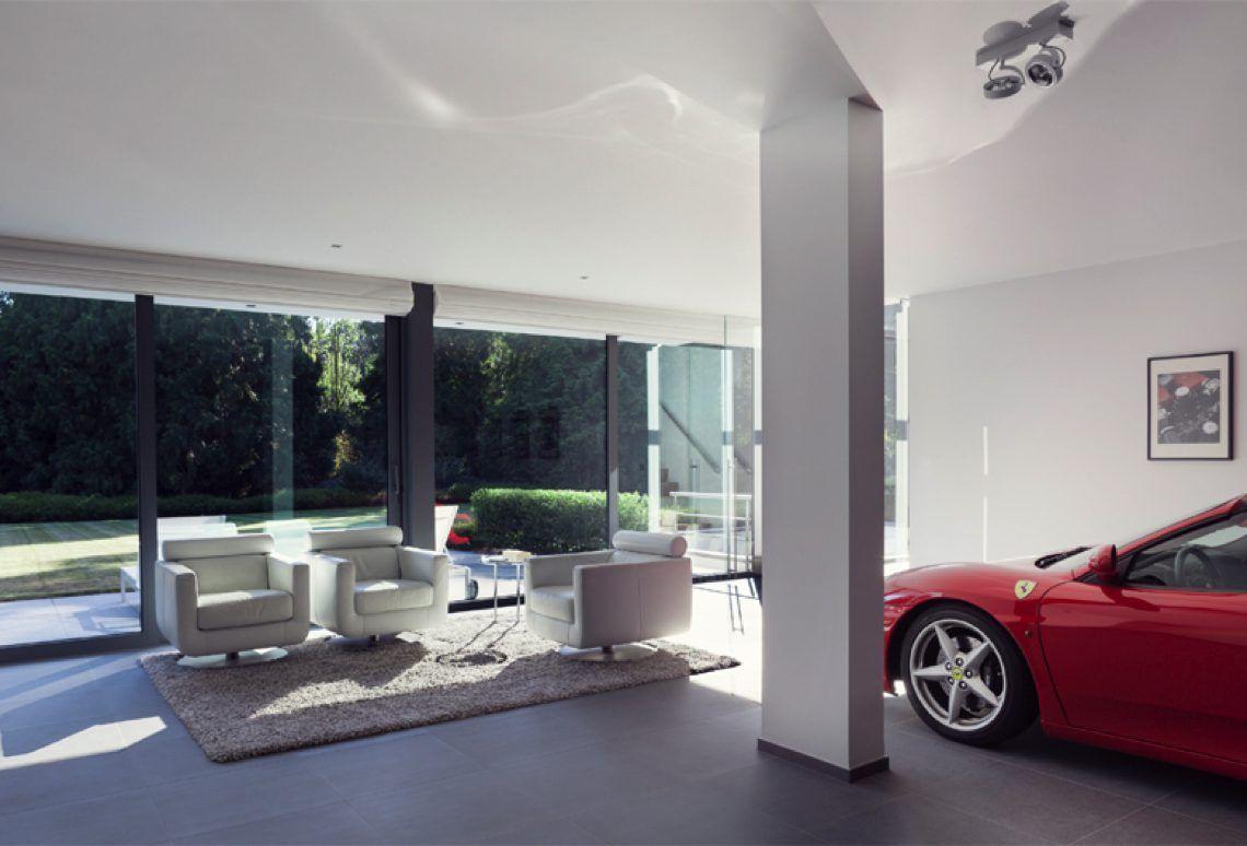 Schellen architecten moderne villa oud turnhout hoog