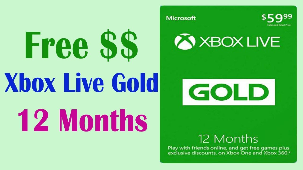 free xbox live codes 12 month