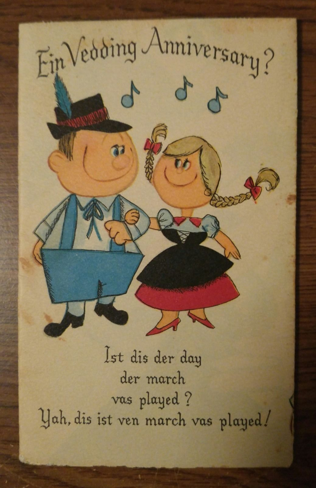 vintage, hallmark 1950's 60's german wedding anniversary card Wedding Greetings In German vintage, hallmark 1950's 60's german wedding anniversary card wedding greetings in german