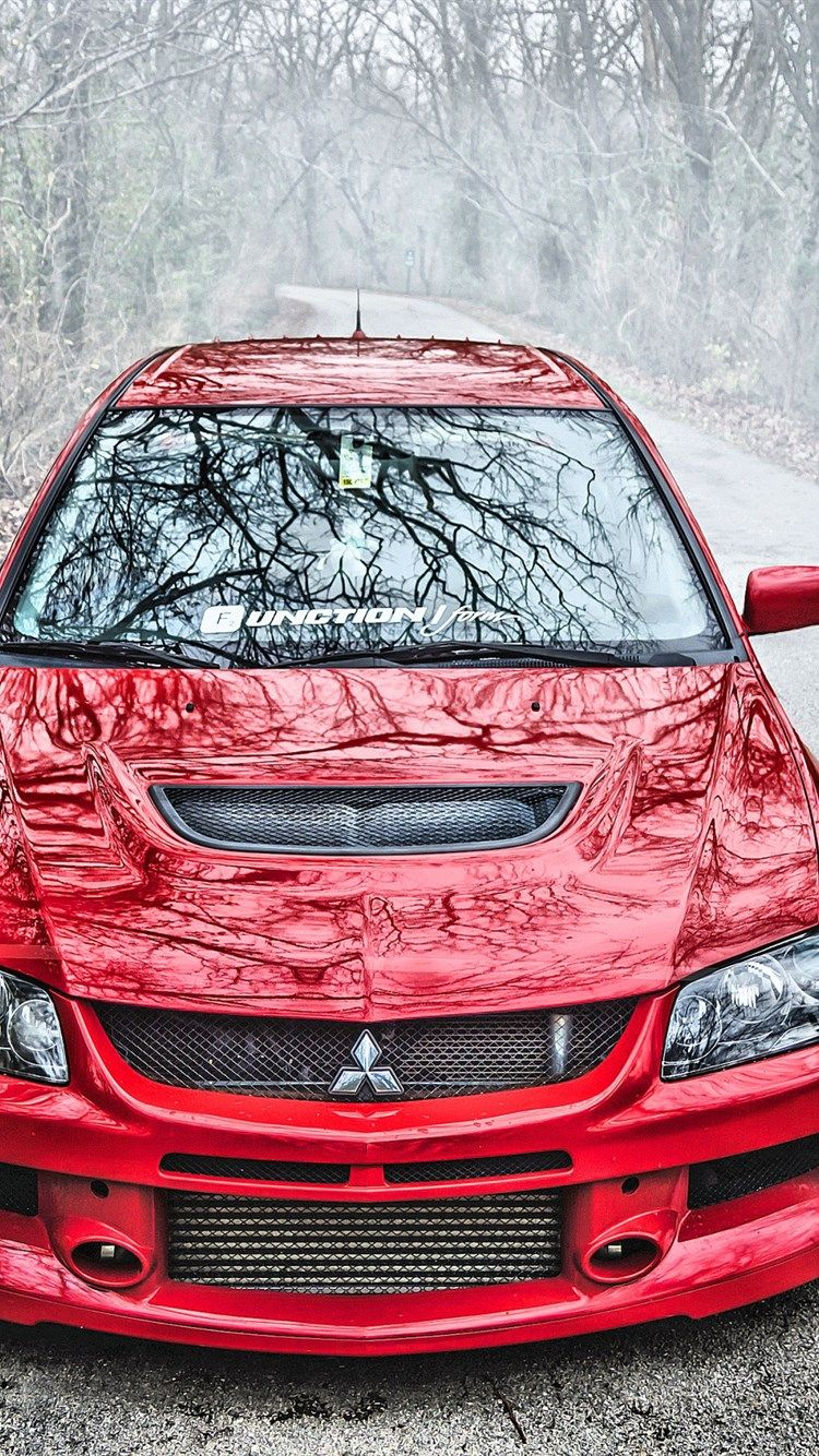 Mitsubishi Lancer Evolution Ix Evo 9 Red Lancer 9 Front