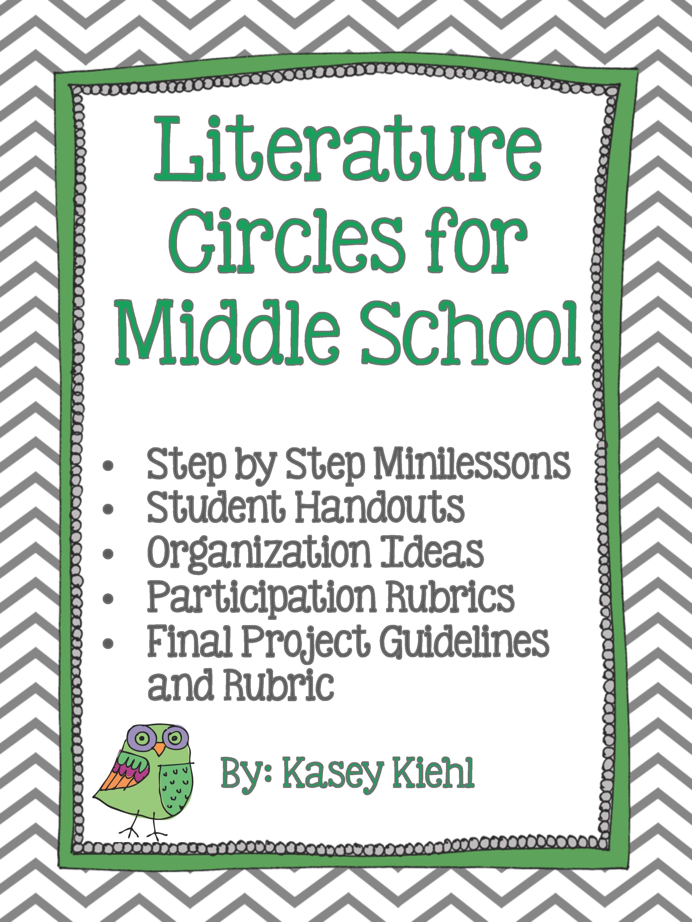 Literature Circles For Middle School Common Core Aligned