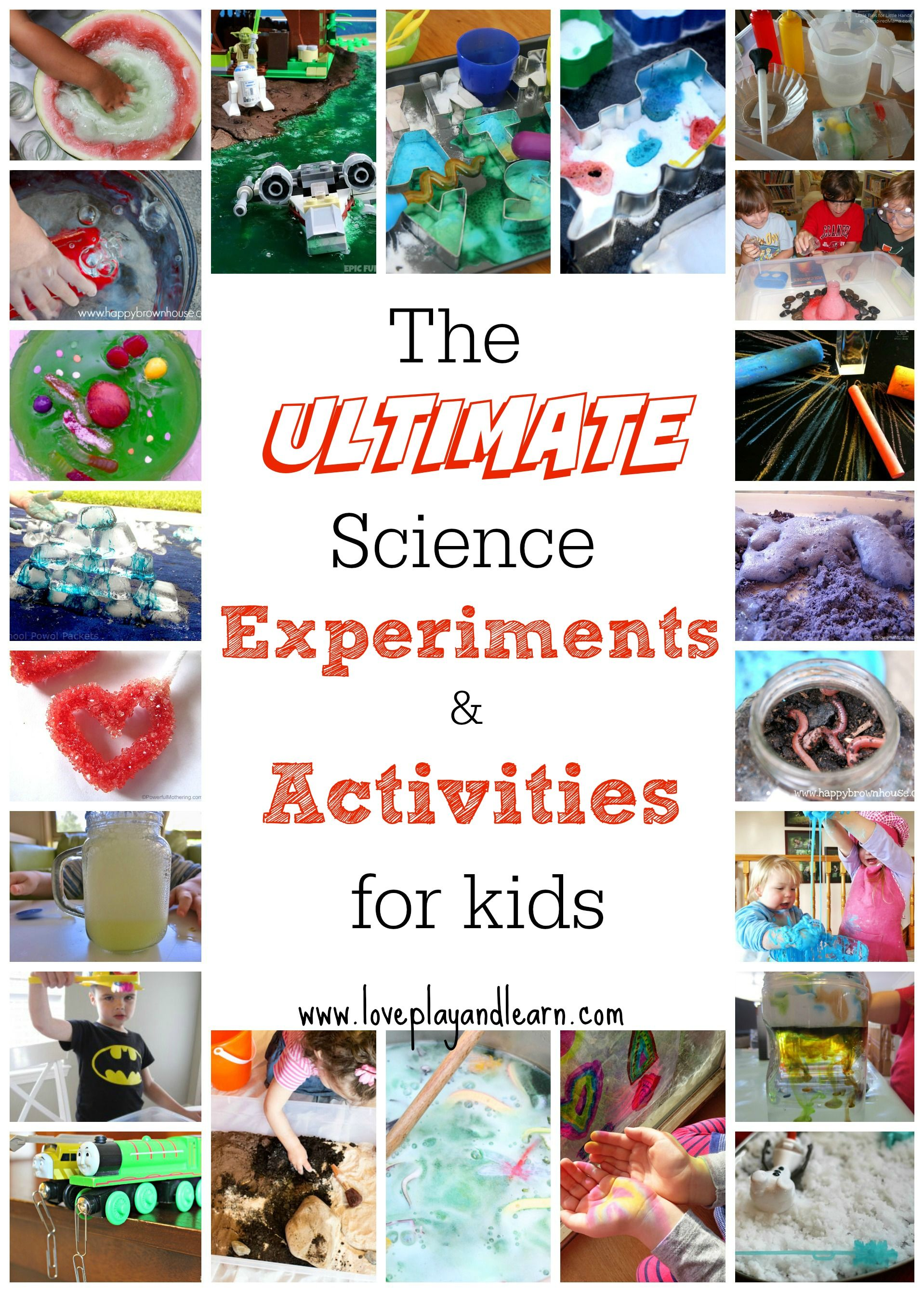 This is the ultimate list of science experiments and activities for kids. 70+ science activities for kids from the best kid bloggers out there!