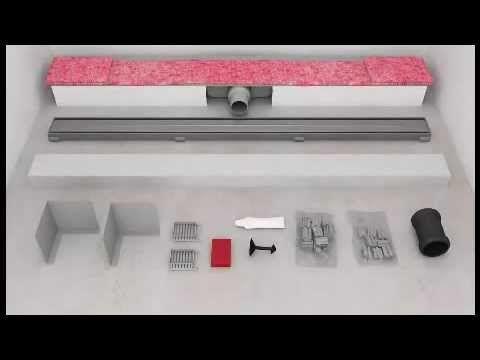 duschrinne einbauen cool tece duschrinne set aus optima edelstahl und ablauf baugleich. Black Bedroom Furniture Sets. Home Design Ideas