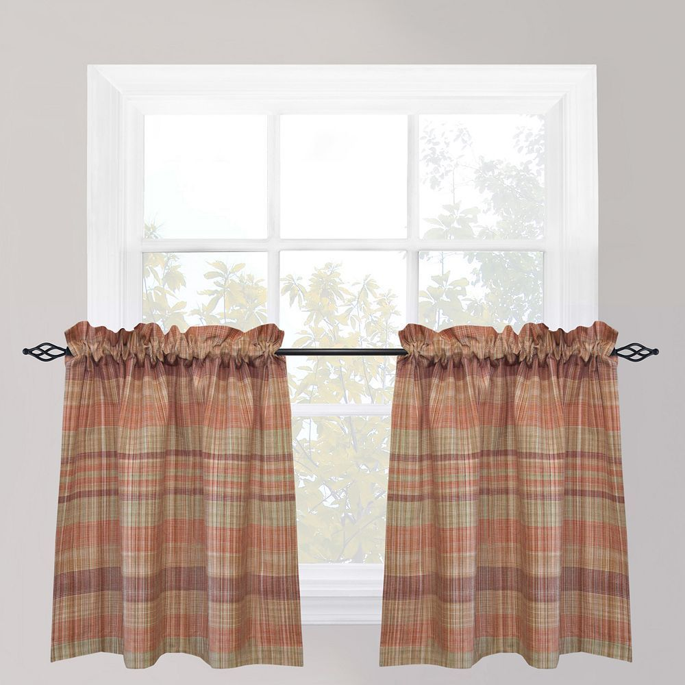 Kitchen window curtain  Park B Smith Sumatra Tier Kitchen Window Curtain Set Multicolor