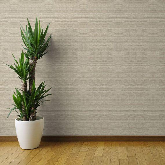 Natural Tan Texture Wallpaper Grasscloth In Natural By Etsy Grasscloth Wallpaper Peel And Stick Wallpaper Grasscloth