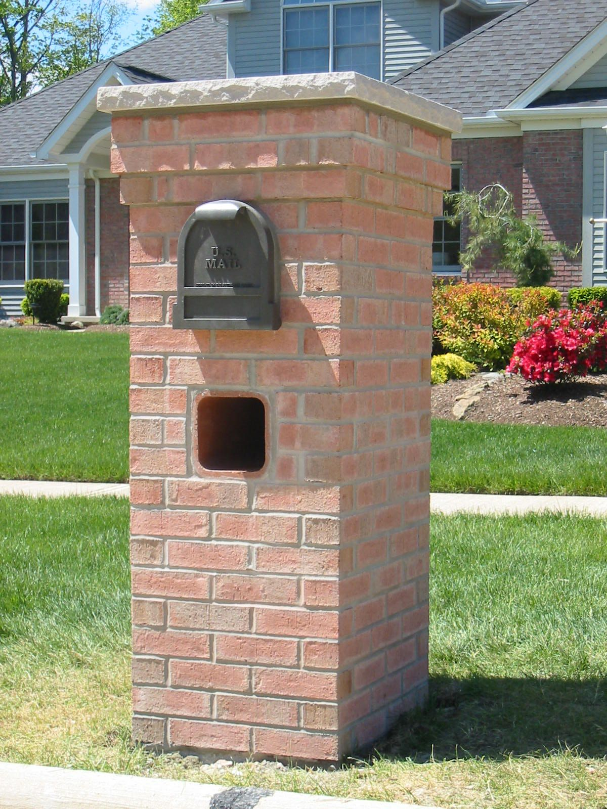 This image is about brick mailboxes ideas for your exterior design and titled mailbox post construction details with description also has the