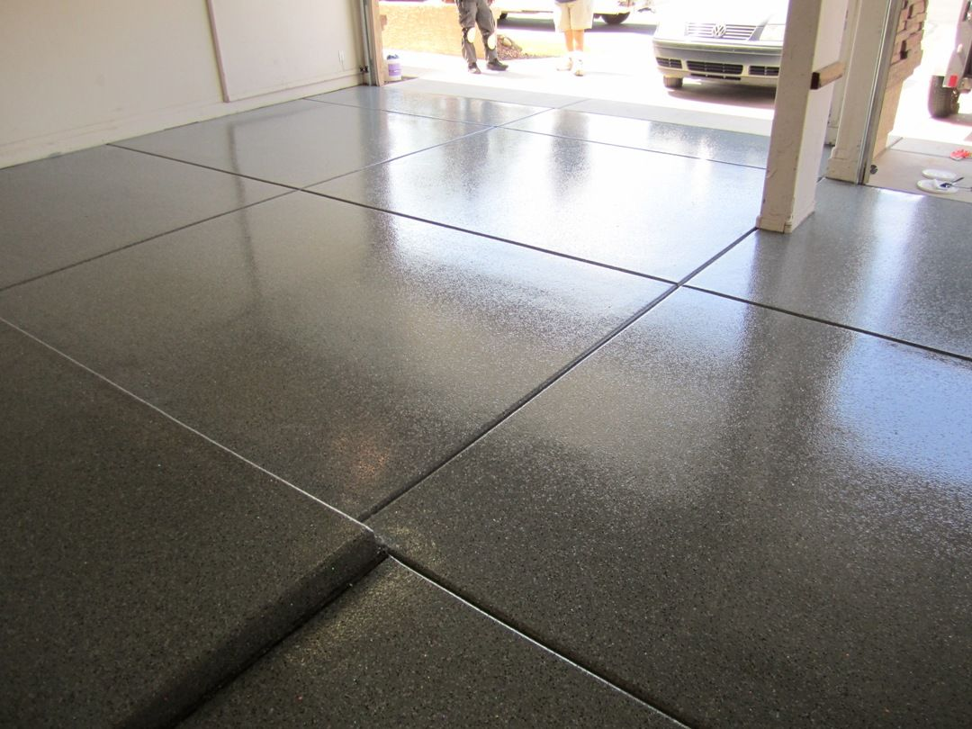 Dark Grey Epoxy Garage Floor Garage Garage Floor Epoxy