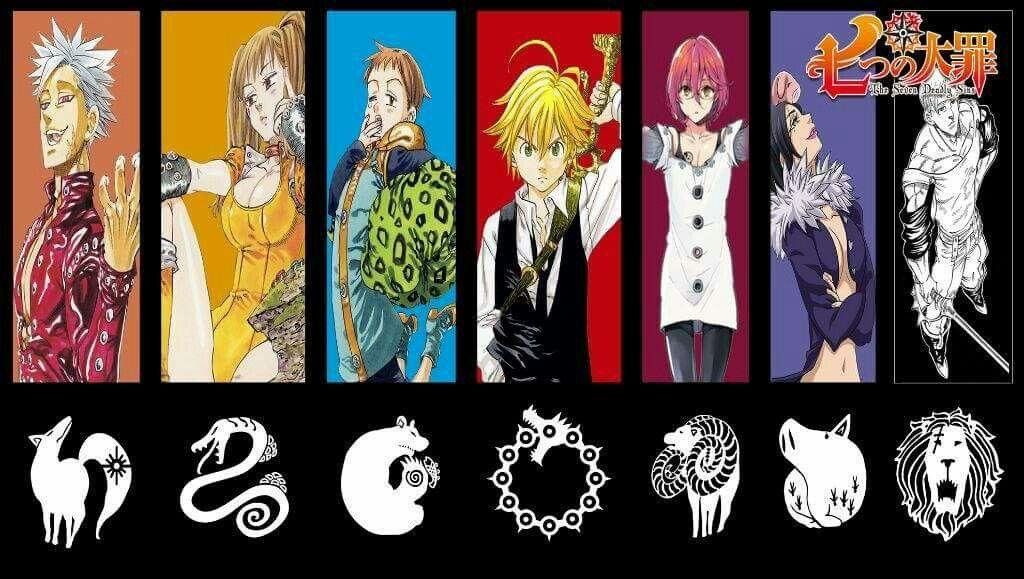 Nanatsu Taizai Sete Pecados Capitais Cada Um E Sua Respectiva