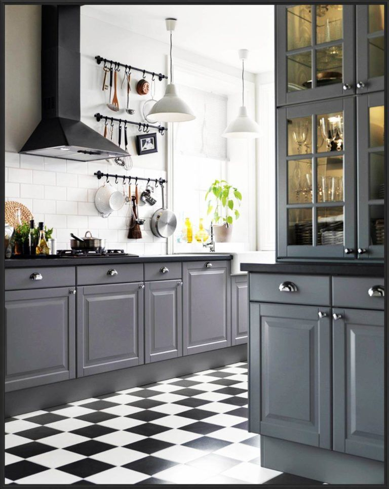 Gray Kitchen Cabinets with Black Countertops Design skull