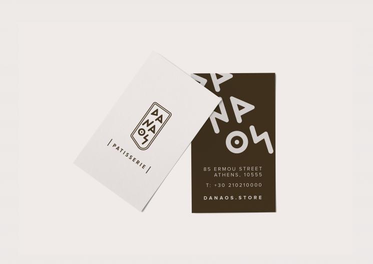Danaos Patisserie Business Card Business Card Design Inspiration Business Card Design Inspiration Business Card Gallery Unique Business Cards Design