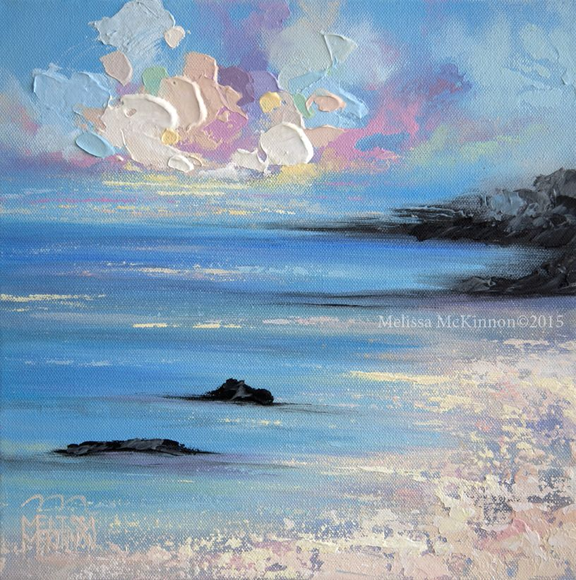Colourful Contemporary Art Ocean Beach Abstract Landscape Painting By Canadian Artist Painter Melissa Mckinnon Vina Del Mar V Abstrakte Landschaftsmalerei Seelandschaft Gemalde Sonnenuntergang Malerei