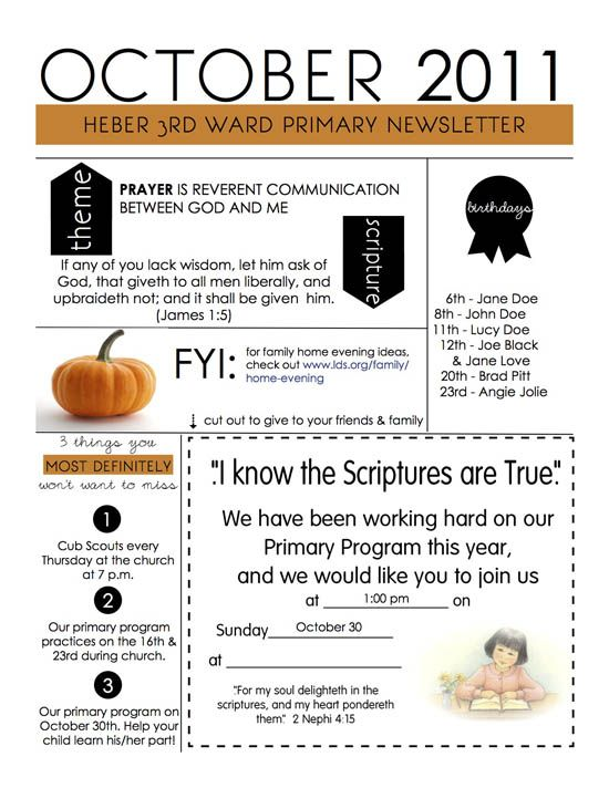 Printable For Newsletter  Church Ideas    Relief