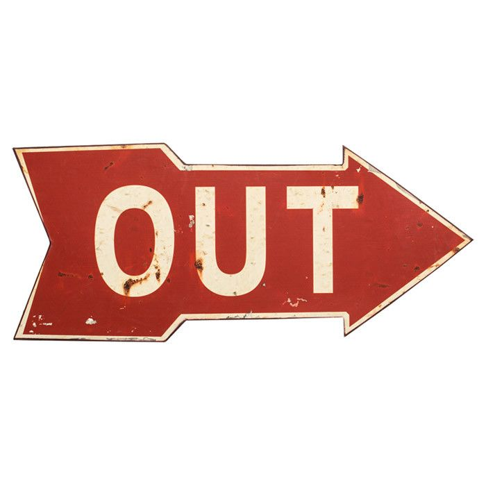 Out arrow wall decor 10 h x 23 w 17 95 better with age