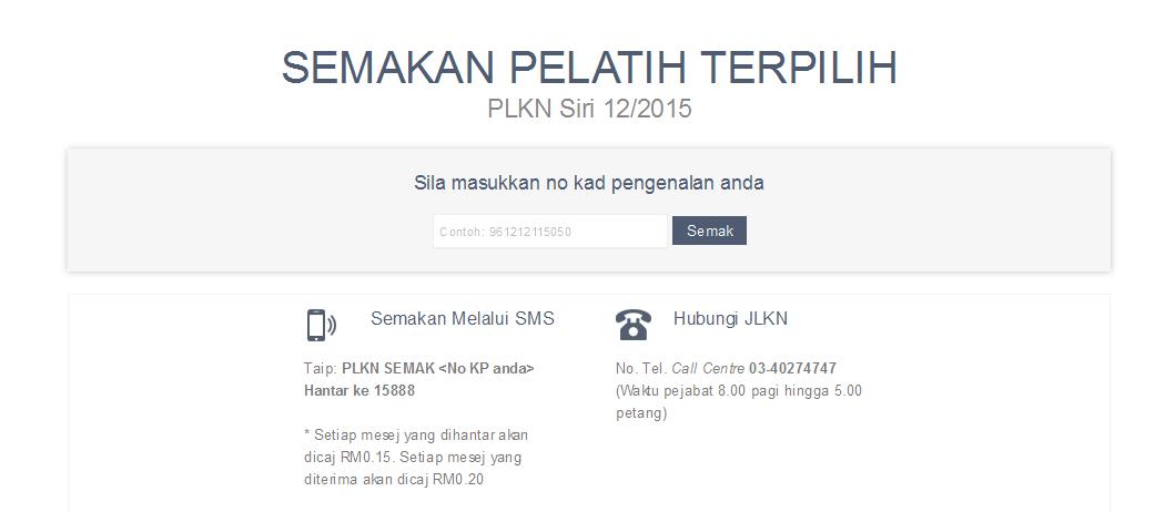 Semakan Online Plkn Siri 12 2015 Media Info Semasa Malaysia Online Info Blog