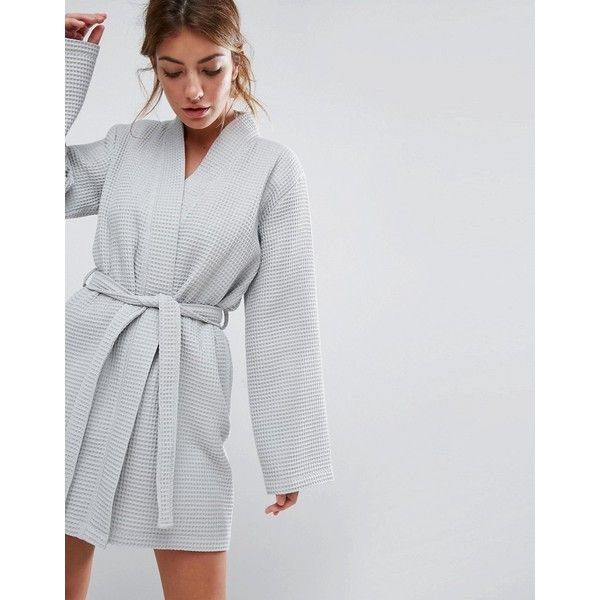 ASOS Waffle Hotel Robe In 100% Cotton (135 BRL) ❤ liked on Polyvore ... 9c76ba40cb1c