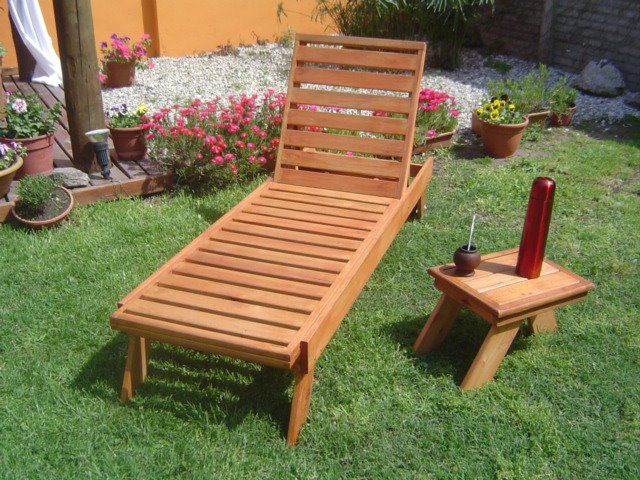 Reposera de madera carpinteria pinterest reposeras for Sillones para patio