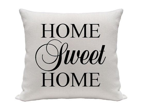 Home Sweet Home Pillow Cover Black And White Pillow Size 40 40 Best Gracious Home Decorative Pillows