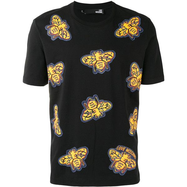 Love Moschino Bee Printed T-Shirt ($86) ❤ liked on Polyvore ...